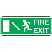 Safe Safety Sign - Fire Exit Door Left 107